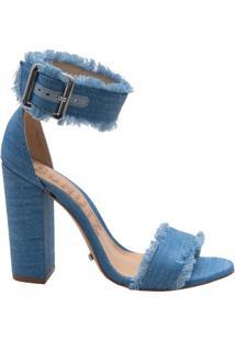 Sandália Block Heel Dress Blue | Schutz