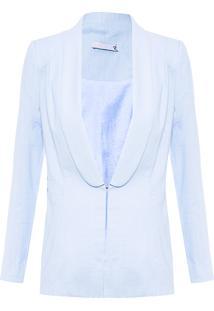 Blazer Feminino Linho - Azul
