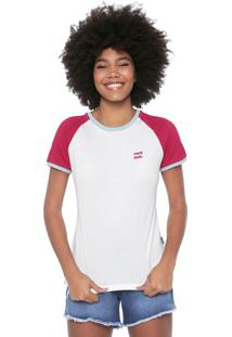 Blusa Billabong College Branca/Rosa