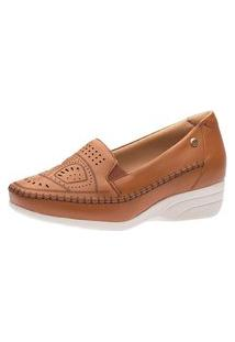 Sapato Anabela Doctor Shoes 3136 Ambar