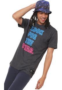 Camiseta Starter Lfts Neon Cinza