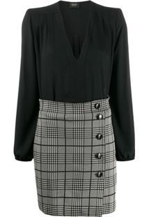 Liu Jo Glen Check Short Dress - Preto