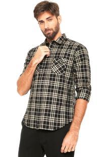Camisa Sergio K Xadrez Preta/Bege