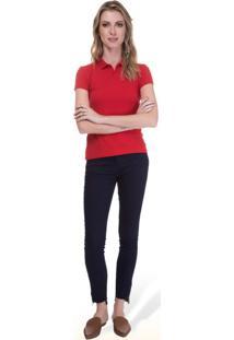 Camisa Pólo Malwee Vermelha feminina  aab47fdbd8a02