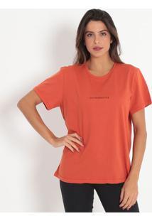"Camiseta ""Trendsetter""- Laranja & Preta- Colccicolcci"