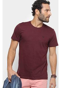 Camiseta All Free Básica Masculina - Masculino-Bordô