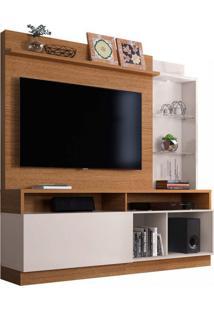 Estante Home Para Tv Até 60 Polegadas 1 Porta Leblon Colibri Móveis Natural Real/Off White