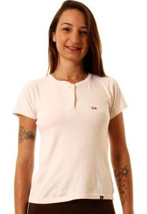 Camiseta Oitavo Ato Henley - Feminino - Dafiti