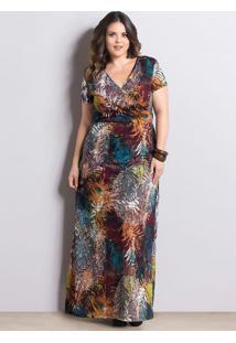 Vestido Longo Mix De Estampas Marguerite