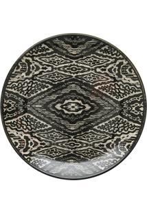 Prato De Sobremesa Em Cerâmica Aquarelle 20Cm Boho Black