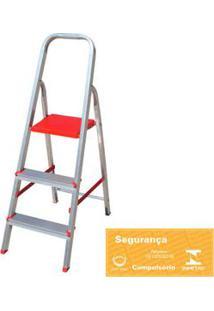 Escada Doméstica De Alumínio 3 Degraus Botafogo