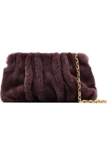 Elleme Vogue Shearling Shoulder Bag - Roxo