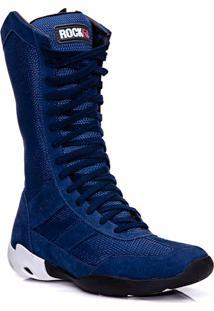 Bota De Treinomasculina Rockfit Flexor Em Couro Azul