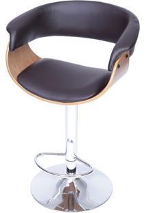 Banqueta Barcelona- Café & Prateada- 109X60X40Cmor Design
