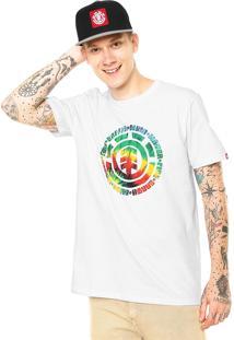 Camiseta Element Tie Dye Fill Branca