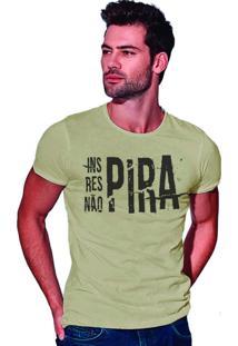Camiseta Estonada Corte À Fio Joss Não Pira- Areia