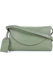 Bolsa Pochete Couro Shoestock Feminina - Feminino-Verde