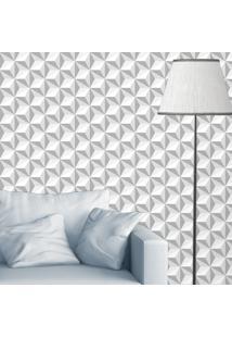 Papel De Parede Cubos Gray 3D