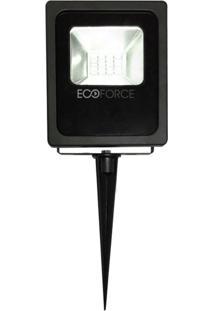 Refletor Led 10W Bivolt Verde Com Estaca Ecoforce 17256