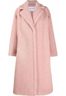 Stand Studio Oversized Single-Breasted Coat - Rosa