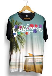 Camiseta Bsc California Kombi Full Print - Masculino-Preto
