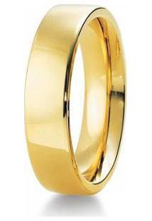 Aliança De Casamento Masculina Em Ouro 18K 750 6Mm Anatômica Wm Jóias - Masculino-Dourado
