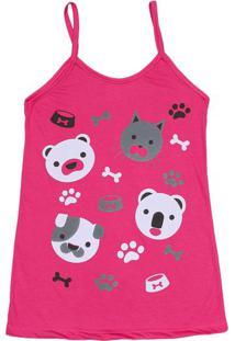 Camisola Animais- Pink & Brancazulai