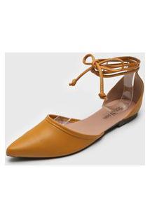 Sapatilha Dafiti Shoes Amarração Amarela