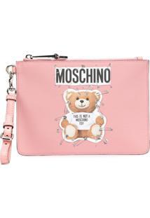 Moschino Bolsa Clutch 'Toy Bear' - Rosa