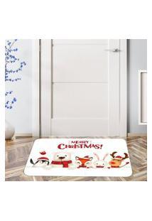 Tapete De Natal Para Porta Christmas White Único