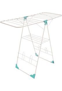 Varal De Chão Antena De Aço Branco Secalux