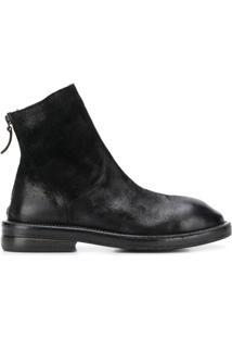 Marsèll Ankle Boot Com Salto Bloco E Salto 35Mm - Preto