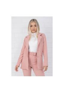 Blazer Pkd Concept Estruturado Rosa