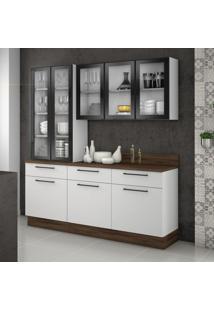 Cozinha Compacta Exclusive 8 Pt 3 Gv Branca E Preta