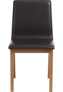 Cadeira Celina - Couro Preto