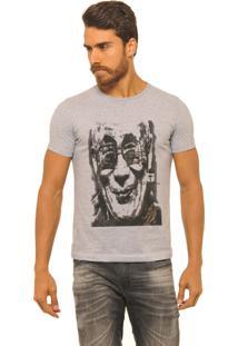 Camiseta Masculina Joss Premium New Gandhi Cinza