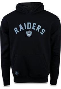 Moletom Canguru Fechado Oakland Raiders Nfl New Era - Masculino