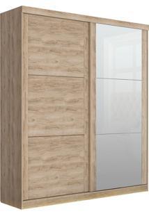 Guarda-Roupa Prático Robel Cedro Madeirado 2 Portas De Correr Com 3 Espelhos