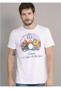 Camiseta Bandup Queen A Night At The Opera - Masculino-Branco