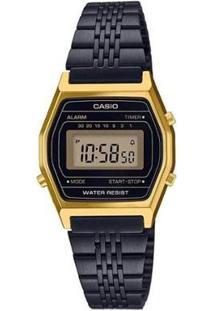 Relógio Casio Vintage La690Wgb-1Df Feminino - Feminino-Preto