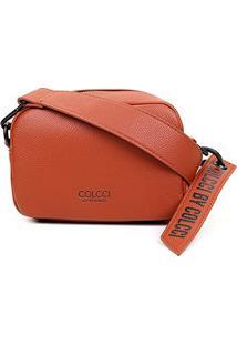 Bolsa Colcci Mini Bag Charm Feminina - Feminino-Caramelo