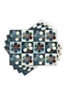 Jogo Americano - Flores Patch Com 4 Peças - 220Jo