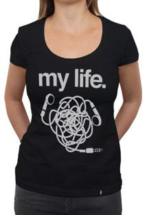 My Life Headphone - Camiseta Clássica Feminina