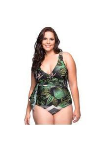 Maiô Pareô Botonical Plus Size La Playa 2019