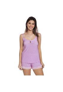 Baby Doll Sara Divina Noite Pijama De Alcinha Com Renda Rosa