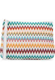 Missoni Mare Clutch Com Estampa Chevron - Branco