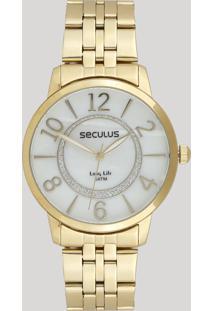 b03b27c0dd9 ... Relógio Analógico Seculus Feminino - 28948Lpsvda1 Dourado - Único