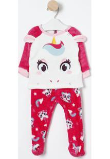 Pijama Unicórnio- Branco & Pink- Puketpuket