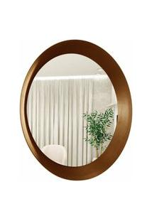 Espelho Decorativo Paella Marrom 60 Cm Redondo
