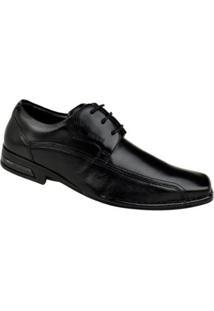 Sapato Social Couro Ferracini Florença Masculino - Masculino-Preto